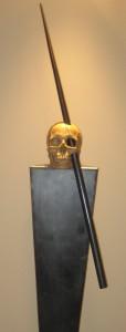 Teschio e lancia. ricostruzione depositata nel museo della Harvard Medical School